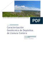 Caracterización Geotécnica de Depósitos de Llanura Costera