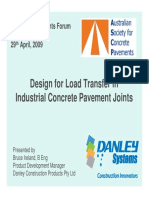 Design for Load Transfer in Industrial Concrete Pavement Joints