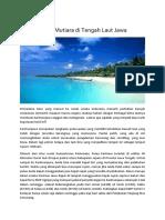 Karimunjawa Mutiara Di Tengah Laut Jawa