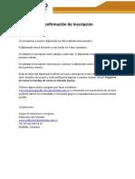 Confirmacion Inscripcion Diplomado PC
