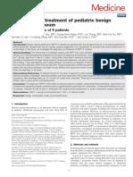 Diagnosis and Treatment of Pediatric Benign.23