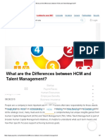 What Are the Differences Between HCM and Talent Management