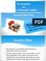 Presentation on Types of Incentive Plans
