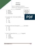 Soklan english  Exam Yr3 Up1