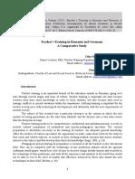 17_Calin Razvan_Pistritu Maria_Teacher Training in Romania and Germany. a Comparative Study