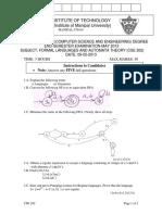 Formal Langauges and Automata Theory (CSE 202)
