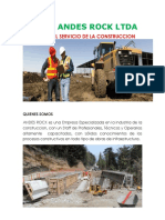 Brochure Andes Rock Ltda
