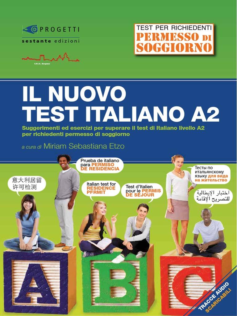 Test Italiano A2 2017 Estratto Low | Reading (Process) | Italy