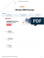 Ufone Weekly SMS Package _ Plan Finder