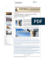 """The Remnant Newspaper - """"Goat Simulator...Ts Your Kids Sacrifice People to Satan"""