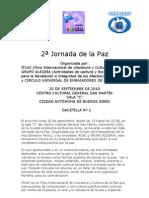 SEGUNDA JORNADA DE PAZ