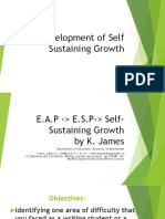 Self Sustaining Growth, Reporting research by K.James