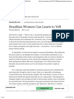 11:11 Brazilian Women Can Learn to Yell - The New York Times