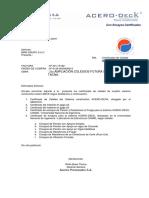 Certificados Planchas Acero Deck Tacna