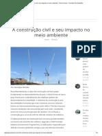 Construção Civil e o Seu Impacto No Meio Ambiente