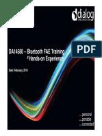 DFAE Dialog DA14580 FAE Training (Morning)