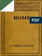 Rome by W. Warde Fowler