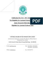 Official Notification for UGC NET 2018