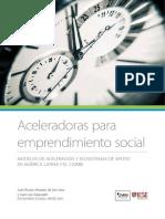 Aceleradoras Para El Emprendimiento Social FOMIN IESE 2016