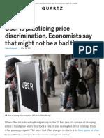 Uber Price Discrimination