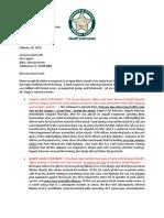Scott Israel letter to Rick Scott