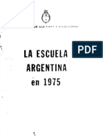 La Educacion Argentina en 1975. Ivanisevich
