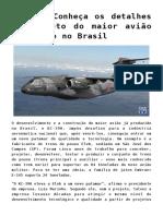 mpdf KC-390 Conheça os detalhes do projeto do maior avião produzido no Brasil