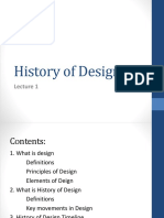 History of Design In a Nutshell