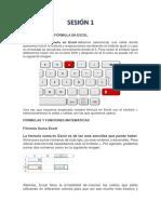 Sesiones Excel