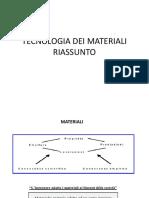 Prof. Cinelli - Fondamenti Di Tecnologia Dei Materiali - Riassunto