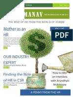 Manav, the Feb Edition of HR Magazine from HR-nXt, IISWBM