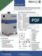Laser Fume Extractor Datasheet