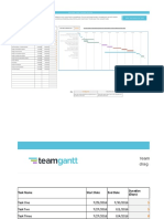 Excel Gantt Chart Template TeamGantt
