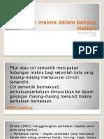 Fitur Makna Dalam Bahasa Melayu