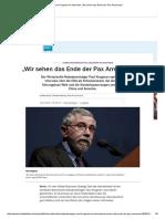 """Paul Krugman Im Interview_ """"Wir Sehen Das Ende Der Pax Americana"""""""