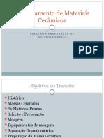 Documents.tips Selecao e Preparacao de Materias Primas Processamento de Materiais Ceramicos