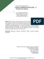 Pharmacies Customer Satisfaction and Loyalty-A Framework Analysis