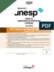 Unesp2017 Caderno2fase Ci Natureza Matem