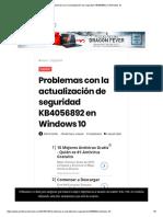 Problemas Con La Actualización de Seguridad KB4056892 en Windows 10