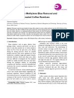 1-Batch Studies for Methylene Blue Removal and Recovery by Untreated Coffee Residues