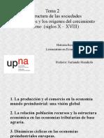 Tema 2 Buen Resumen Economía Preindustrial Ppt