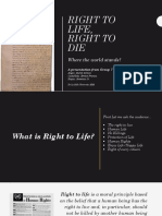 Presentation - Right to Life Right to Die F