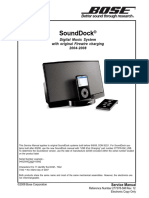 BOSE Sounddock Service Manual