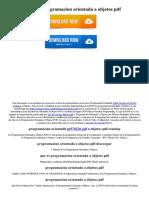 Que Es Programacion Orientada a Objetos PDF