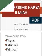 Plagiarisme Dalam Karya Ilmiah Prof. Roni