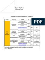 Cronograma de Actividades Lapso Académico Sept