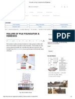 Failure of Pile Foundation & Remedies