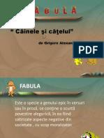 Fabula_cainele Si Catelul