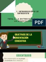 Principios generales de la entrevista en orientación educativa