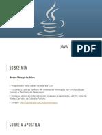 Apostila Java 1 - Orientação a Objeto